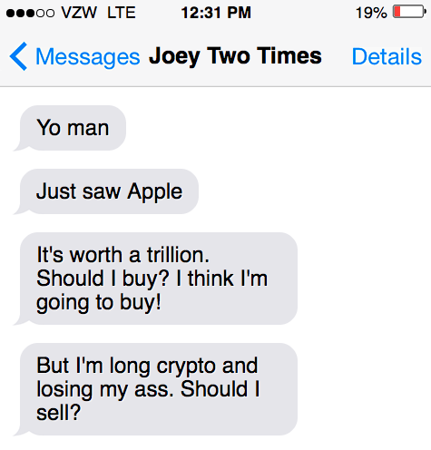 Apple Texts At $1 Trillion