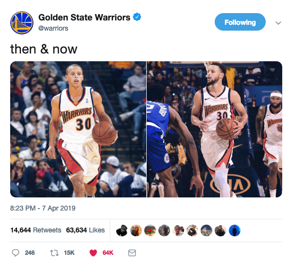 Steph Curry Then and Now